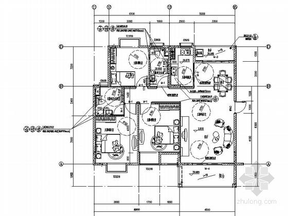 [海南]现代风格高层保障性住房建筑规划设计施工图-现代风格高层保障性住房建筑大样图