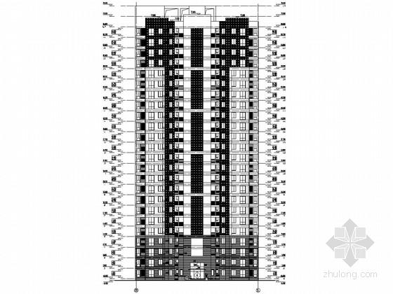 [安徽]24层剪力墙结构家园住宅楼结构施工图(含详细建筑图)