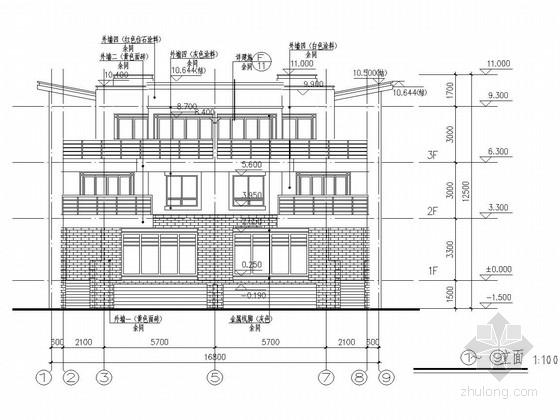[安徽]三层异形柱框架结构别墅结构施工图(含建筑图)