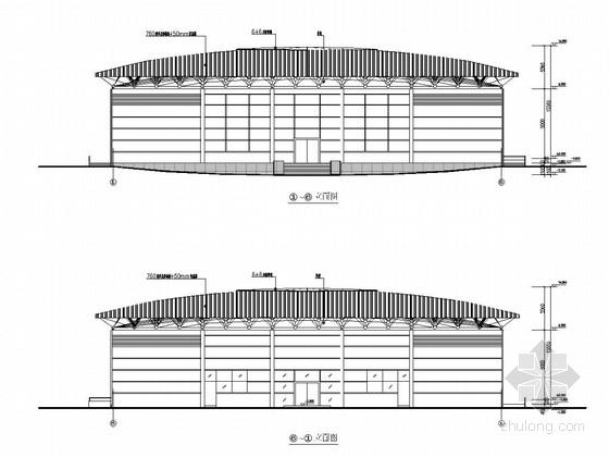 电业局网架结构球场结构施工图(含建筑图)