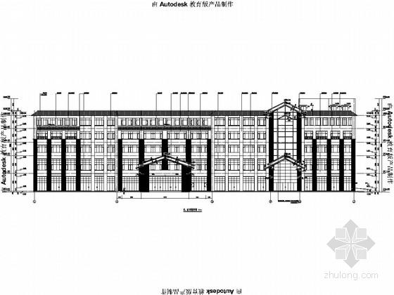 [超市]包头五层框架结构施工图(含建筑图、楼梯计算书)