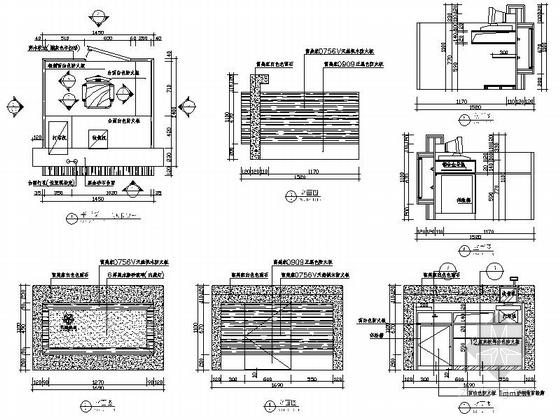 [昆山]繁华商业区现代百货商场室内CAD装修图(含效果)收银台详图