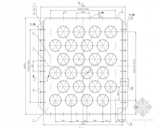 建筑给排水设备安装大样图(38张)-对流两端管板