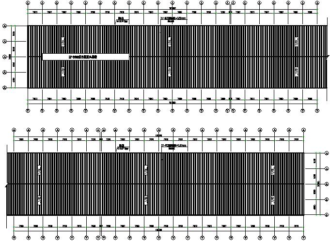 门式刚架300mx36m钢结构厂房施工图(CAD,9张)