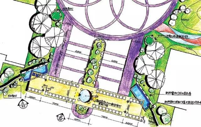 经典入口景观设计平面图!!