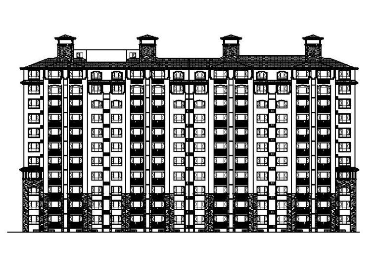 [宁夏]11层新中式风格剪力墙结构住宅小区建筑施工图