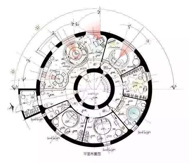 深度解析!一个圆形户型的15个高超方案!_19