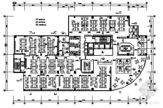 某大厦写字楼四层平面布置图