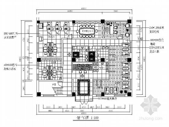 某装饰公司办公空间设计装修图(含效果)