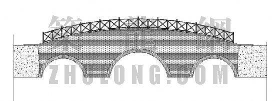 木桥平立面图纸