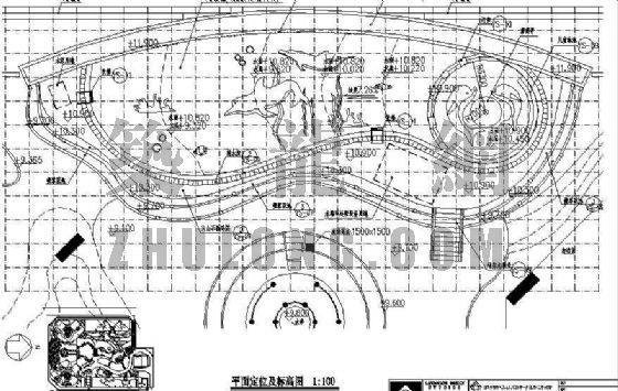 屋顶花园景观泳池施工图(深圳设计)