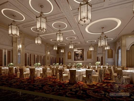 酒店宴会厅3D模型下载