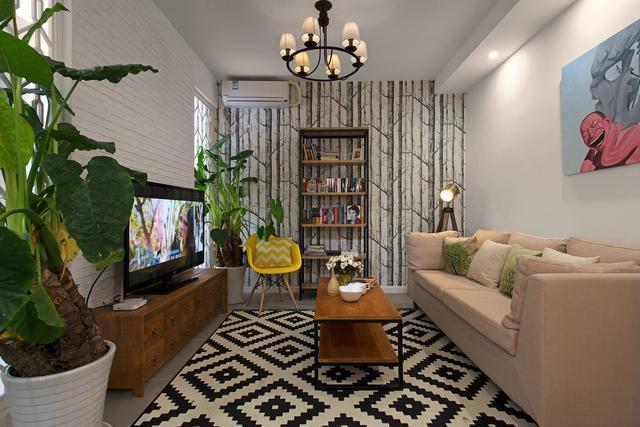 54平米小户型两室一厅现代简约风格老房翻新装修