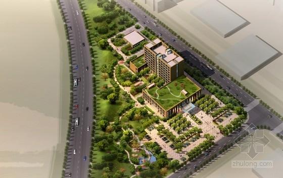 [浙江]镇级现代化8层中心卫生院建筑概念设计方案文本(PSD、含CAD图纸)