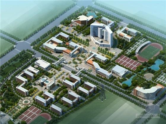 [郑州]现代风格中小学校规划及单体建筑设计方案文本
