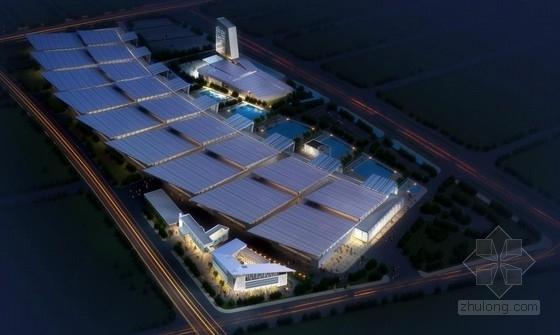 [南京]合院式布局倾斜屋顶造型综合服务楼建筑设计方案文本(含CAD)