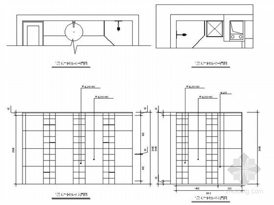 [原创]时尚波普艺术LOFT公寓CAD施工图(高清力荐!)-时尚波普艺术LOFT公寓CAD施工图(高清力荐!)立面图