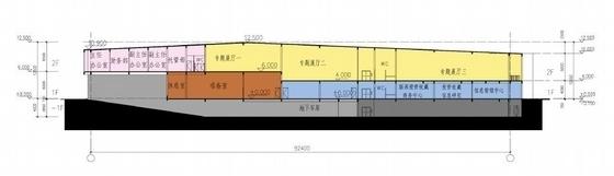 [深圳]两层清水混凝土拍卖交易中心改建设计方案文本-两层清水混凝土拍卖交易中心改建剖面图