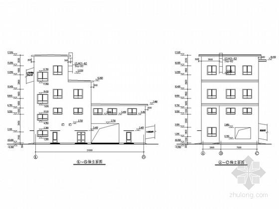 [内蒙古]四层框架结构煤矿筛分拣矸车间结构施工图(含建筑图)