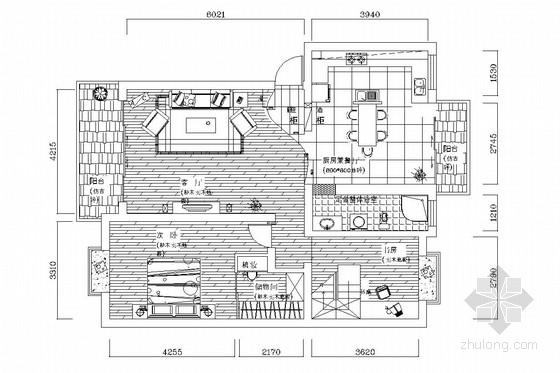 新古典风格二层复式三居室装修图(含实景照片)