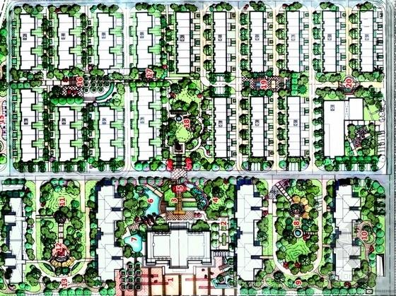[武汉]英伦田园风格高档住宅小区景观概念方案设计