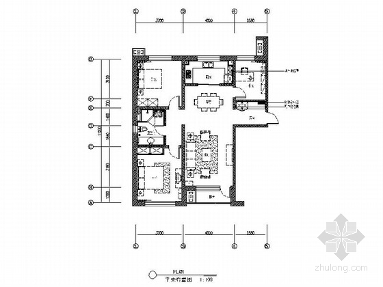[沈阳]地产集团时尚现代三居室样板间装修图