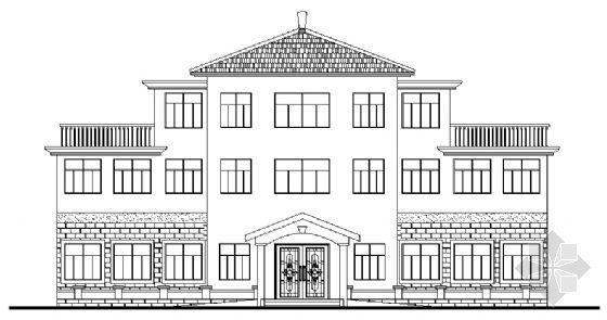 某市三层老年活动中心建筑方案图