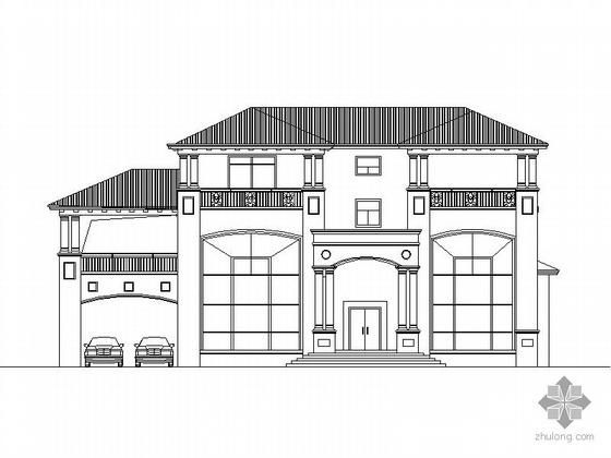 某三层豪华别墅建筑方案图(含效果图)
