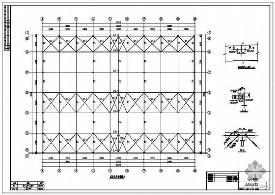 某3×30米跨混凝土柱钢屋面带吊车厂房结构设计图