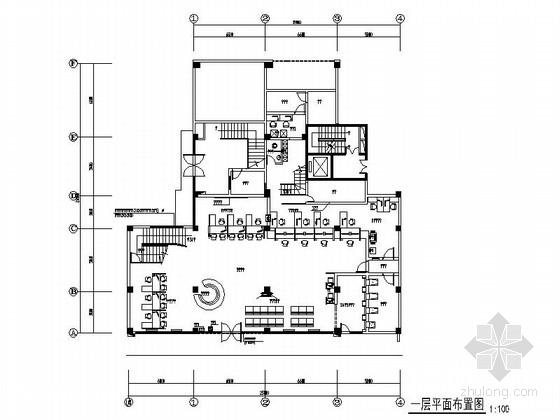 [福建]工商银行某支行室内装修施工图