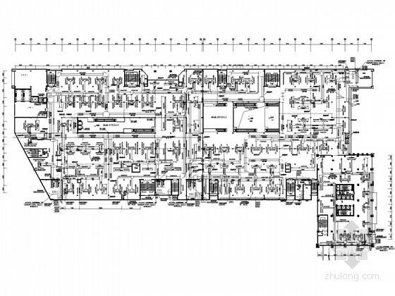 [合肥]大型商场空调通风设计施工图纸(冷冻机房设计)