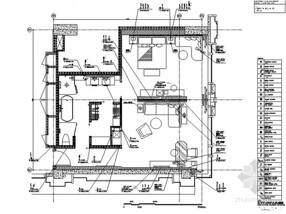 [贵阳]某五星级酒店尊贵套房装修施工图