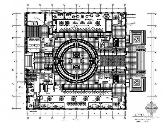中国人民银行新营业大楼内装竣工图(含效果)