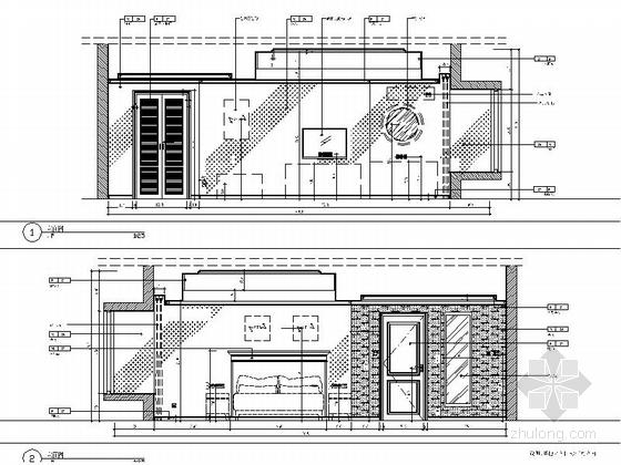 [苏州]工业园林区复合型商业综合体社区中心装修施工图(含效果)客房立面图