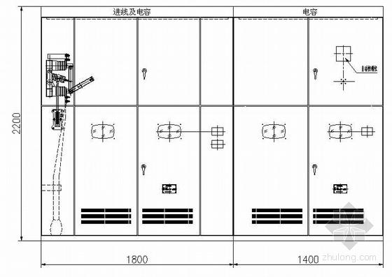 河南某焦化工程10KV电容补偿柜电气图纸