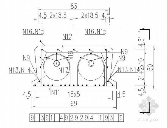 江苏省230省道吴江北段干线公路工程装配式预应力混凝土空心板设计图