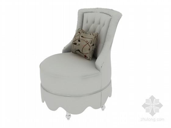 舒适单人沙发3D模型下载