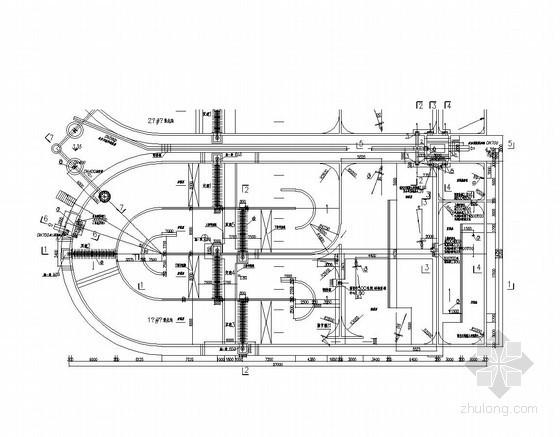 [四川]2万吨改良型氧化沟工艺施工图