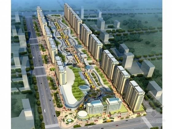 [江苏]现代风格商业街规划及商住楼设计方案文本