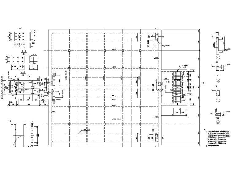 污水处理厂粗格栅及调节泵池施工图