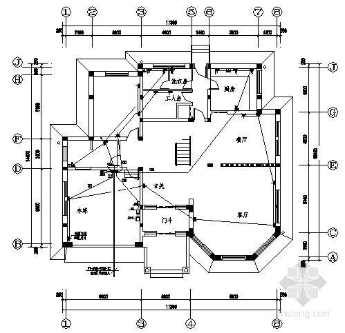 三层别墅电气施工图纸