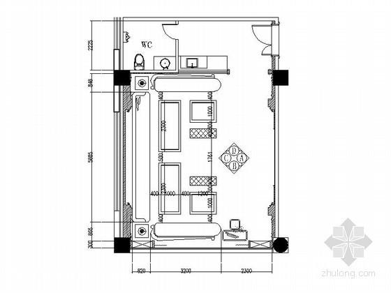 VIP包厢装修资料下载-会所古典VIP包厢装修平立面图