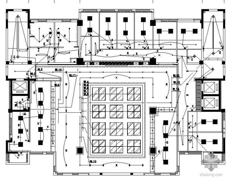 苏州某社区服务中心11层综合楼电气图纸