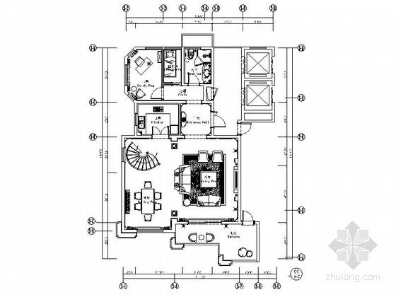 [温州]奢华双层别墅室内装修施工图(含效果)