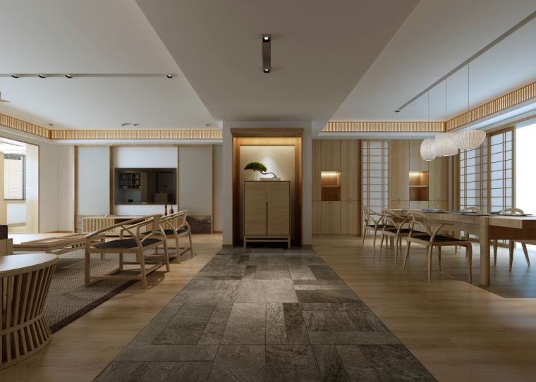 简单自然的中式风格住宅室内实景图 (4)