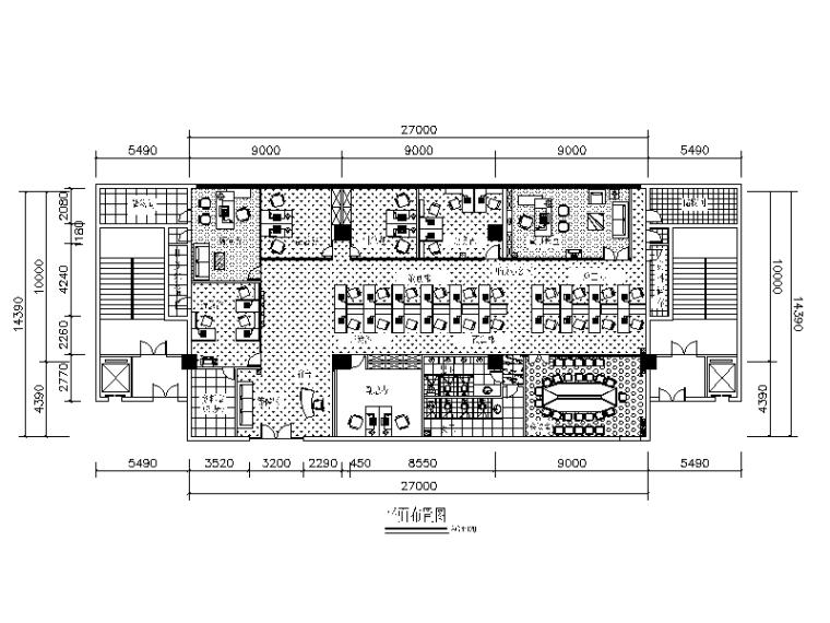 高档房产办公室设计全套CAD施工图
