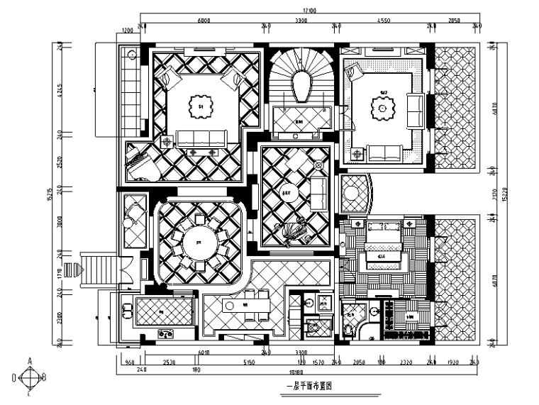 [浙江]混搭风格玫瑰半岛别墅设计施工图(附效果图)_4