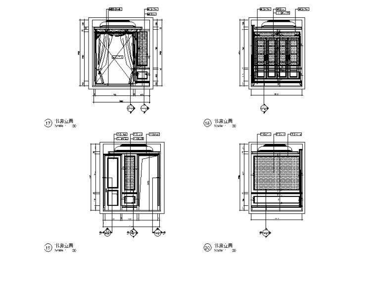 全套欧式风格样板房设计CAD施工图(含效果图)_5