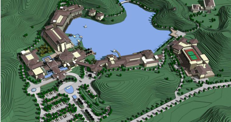 佛山三水江南新区酒店规划设计方案
