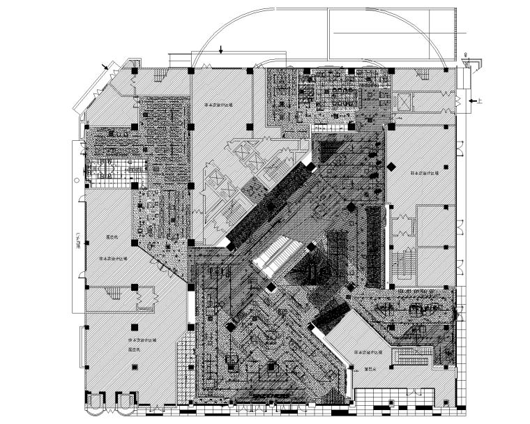 四川旗舰店室内电气设计施工图(装饰、电气)